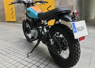 Yamaha 250 sr scrambler cutom malaga